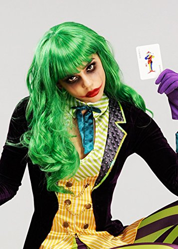 Womens Joker Stil grün Misfit (Fancy Ladies Kostüme Dress Niedliche)
