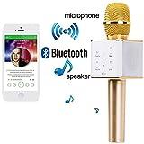 #8: Kartik Karaoke Portable Handheld Wireless Bluetooth Speaker Handed with Audio Speaker Mic - Assorted Color