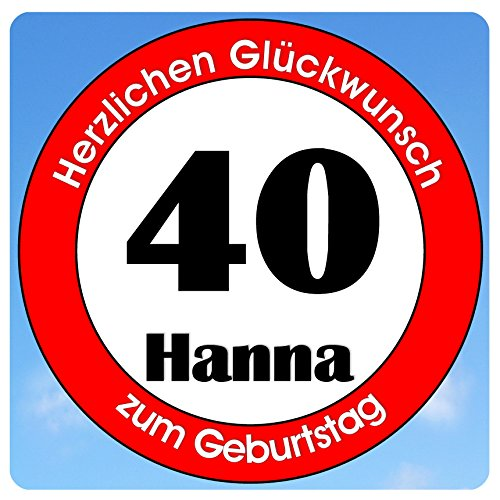 bedrucktes Aluschild 305 x 305 mm - Motiv Geburtstag 40 mit Wunschnamen und Wunschalter