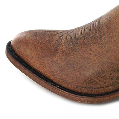 FB Fashion Boots Boulet 6328 E Bison rusch/Herren Westernstiefel Braun/Herrenstiefel/Cowboystiefel Rusch (Weite E)