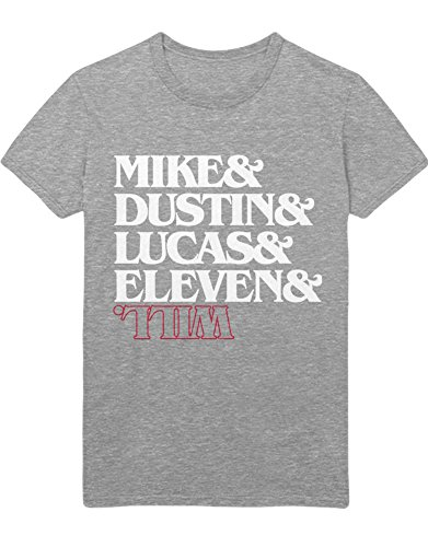 Hypeshirt T-Shirt Stranger Things Mike Dustin Lucas Eleven Will C000067 Grau L
