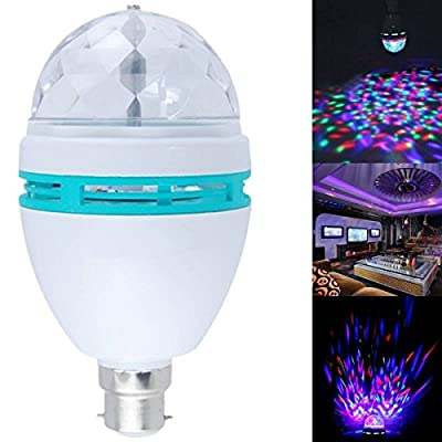 Accmart B22 3W RGB 16 Colors Crystal Ball Rotating LED Stage Light Bulbs Disco Lamp Newest Multi-Color Colorful Changing Bayonet - cheap UK light shop.
