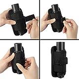 Ultrafire Taschenlampe Holster, Stretchy Tactical Taschenlampe Tasche Fackel Fall Deckung mit 360 Grad drehbare Gürtel Clip, schwarz -
