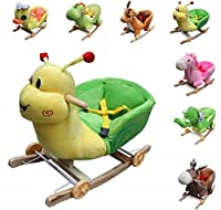 """Clamaro Schaukeltier """"Little Swing"""" inkl. Rollfunktion, Sicherheitsgurt und Rückenlehne, Schaukelspielzeug aus weichem Plüsch - 7 verschiedene Tiere"""