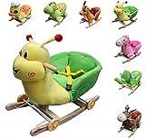 """Clamaro Schaukeltier """"Little Swing"""" inkl. Rollfunktion, Sicherheitsgurt und Rückenlehne, Schaukelspielzeug aus weichem Plüsch - Pferd"""