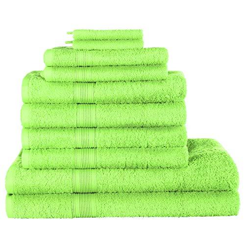 REXOO Frottee Handtücher Saunatuch Handtuch Gästetuch Badetuch Duschtuch 500g/m², Größen:Badetuch 100x150 cm, Farben:Apfelgrün