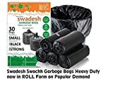 Swadesh Swachh Garbage Bags, Economy Pack in ROLL Form, 100% BIODEGRADABLE, Combo of 10Roll x 30pcs each = 300Pcs, Size Medium 19inch x 21inch