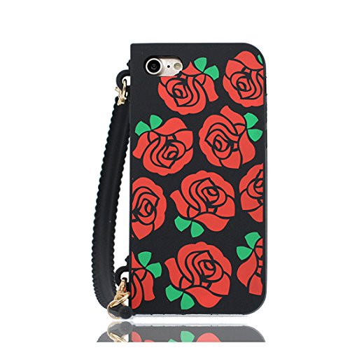 rosso 3D Cartoon borsetta Handbag ) iPhone 7 Plus Custodia, iPhone 7 Plus copertura 5.5 Survivor Protective case / Cartoon Morbido Flessibile TPU Cover Shell Scivolamento di polvere Color 1