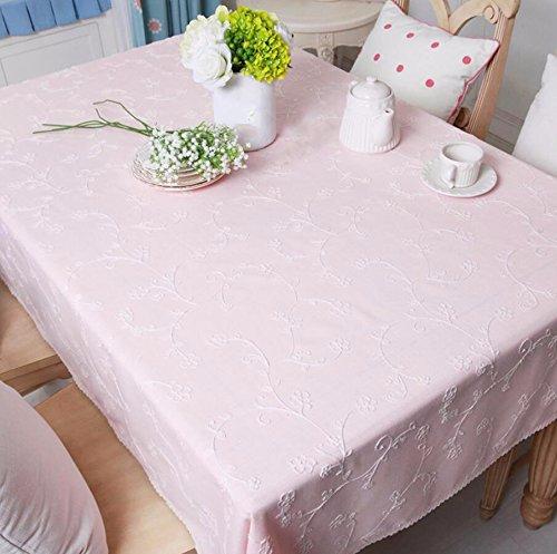Wfljl tovaglia agriturismo stile stoffa tavolino rettangolo di panno di copertura rosa 220 * 140cm