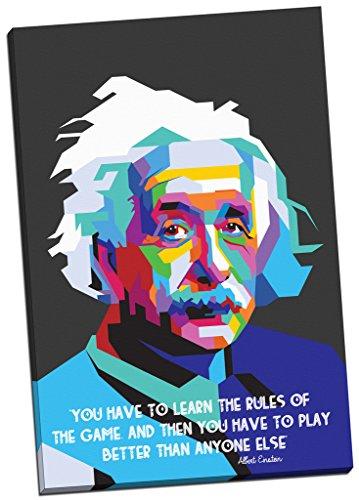 Albert Einstein Zitat Foto Kunstdruck auf Leinwand Moderne Kunst Wand Art Grand 76,2x 50,8cm