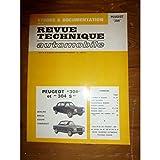 RRTA0289.0 - REVUE TECHNIQUE AUTOMOBILE PEUGEOT 304-304S Berline - Cabriolet - Coupé