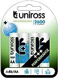 Uniross Performance 4 X AA 2600 Series  Rechargeable Batteries
