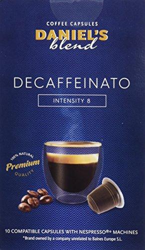 DANIELS BLEND - 50 Cápsulas de Café Compatibles con Máquinas Nespresso - DECAFFEINATO