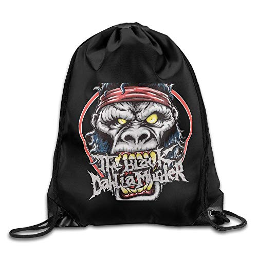 GONIESA The Black Dahlia Murder Album Drawstring Backpack Bag White - Dahlia Sham