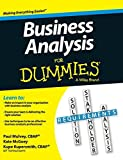 Business Analysis for Dummies by Kupe Kupersmith (2015-07-13)