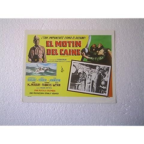 Original Mexican Lobby Card The Caine Mutiny Humphrey Bogart Van Johnson
