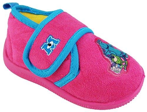 Image of Disney Pixar Kids Monsters Inc Pink Novelty Character Slippers 7 UK (24 EUR) Toddler