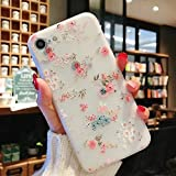 Enflamo 3D Soft TPU Flower Pattern Printed Back Cover for iPhone 7/8 (White)