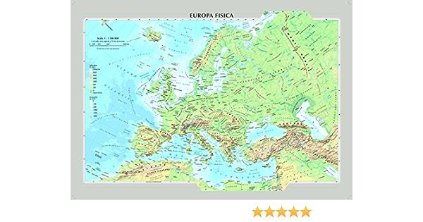 Cartina Politica Muta Dell Europa.Amazon It Europa Fisica E Politica Carta Murale Aa Vv Libri
