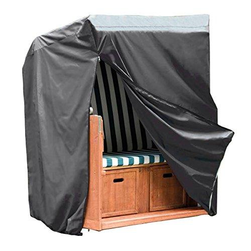 Monkey Mountain® 30293 Schutzhülle DELUXE für Strandkorb inklusive Tragebeutel - 130 cm x 100 cm x 170 cm / 134 cm - Oxford Polyester 420D