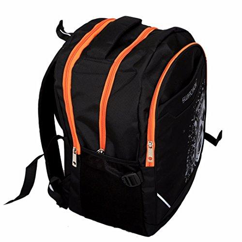 Kuber Industries™ Stylish 30 Ltrs School Bag Backpack (Black) – KI9026