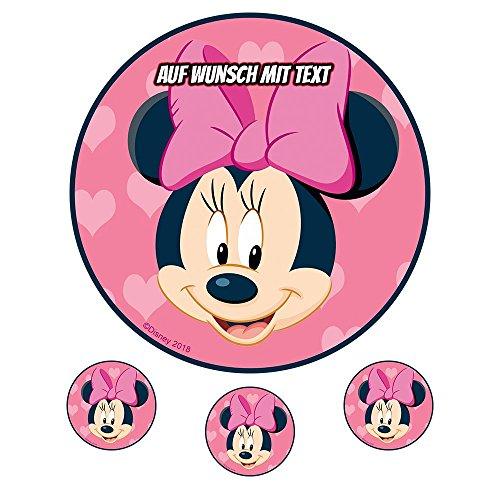 tstag Tortenbild Zuckerbild Oblate Motiv: Disney Minnie Maus 02 (Oblatenpapier) ()