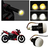 #10: Andride Double Colour White and Orange Bar End Indicator Light For ALL Type Bikes