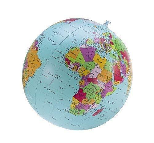 Interkart Politischer Globus Wasserball, englisch, Durchmesser 40cm