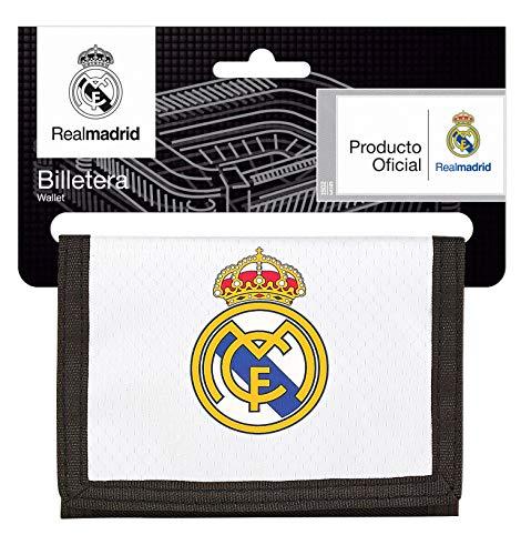 Real Madrid 811854036 2018 Tarjetero, 12 cm, Blanco