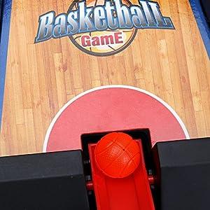 WISHTIME Tablero Minibasket Juego de Tiro Juego de 2 Jugadores Shootout Aros Baloncesto con Dispositivo de puntuación…