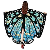 VRTUR Damen Schmetterling Flügel Schal Damen Nymphe Elf Poncho Kostüm Zubehörteil Schals Poncho Kostüm Zubehör für Show/Daily / Party Karneval Geschenk