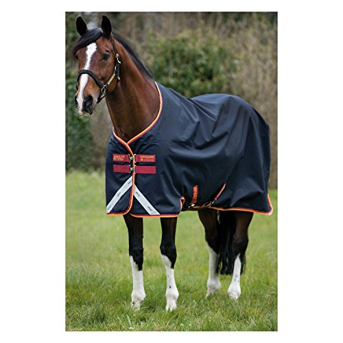 Horseware Amigo Bravo 12 Turnout medium 250g - Dark Navy/Red, Groesse:155