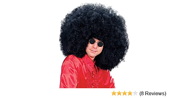 MEN/'S 1970/'S GIANT AFRO BLACK WIG SUPER JIMMY ROCK STAR FANCY DRESS ACCESSORY