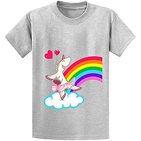 The Geekies Rainbow Unicorn Youth Crew Neck Customized T Shirt XXXX-L