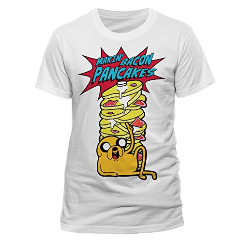 CID Adventure Time - Pancakes T-Shirt Homme Multicolore FR : L (Taille Fabricant : L)