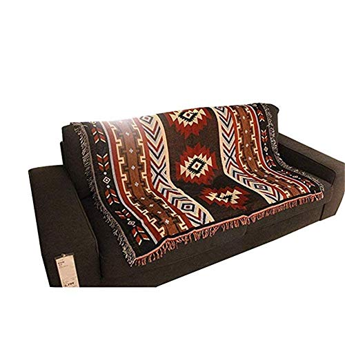 ZRL77y Baumwolle gewebt Sofa Wanddekoration Sofa Handtuch Indien Strand werfen multifunktionale gestrickte Decke (Color : A, Size : 150 * 125cm) -
