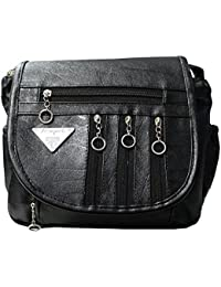 Attire Fancy Fancy Elegant Fashion Sling Bag For Women & Girls (Black)