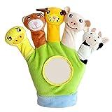 Beetest Guanto Cartoon Animal Finger Giocattoli Peluche Su Dita Bambini Baby Doll Bambini Educativi Mano Burattini Giocattolo