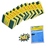 #10: Wonder Scrub Sponge 2-in-1 Large (Pack of 10) and Vegetable and Fruit Bag Worth Rs.32 (Pack of 1) for FREE Super Saver Pack