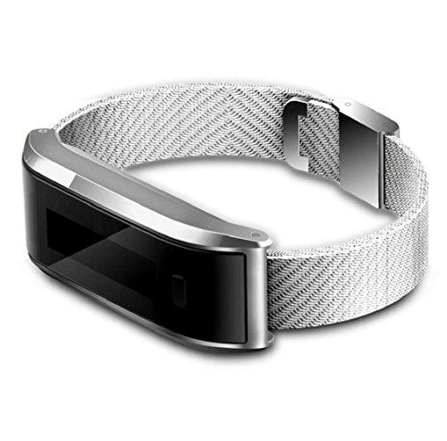 Kolylong® smart Armband Sport Unisex Sport Armbanduhr Pedometer-Schritt gehenden Kalorie-Gegen Sport Tracker Für iPhone 4S / 5 / 5C / 5S / 6 / 6P IOS6.1 Oben, Android 4.3 und höher (Silber) (Medikamente Tracker)