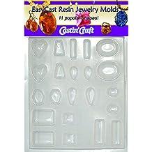 Easy Mold - Molde de plástico para alhajas, 11 formas, 18,41 x 20,95 x 0,63 cm
