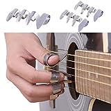 3Metall Finger Picks + 1Daumen Pick Set Gitarre für Gitarre Dobro Banjo