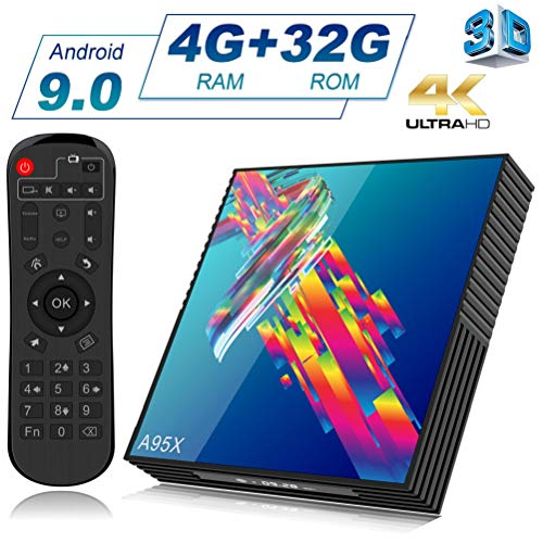 A95X R3 Android 9.0 TV Box with 4GB RAM 32GB ROM RK3318 Quad-Core Cortex-A53 CPU Support 2.4GHz/5GHz Dual WiFi /4K Ultra HD /H.265 /USB3.0 /BT4.2/ 3D