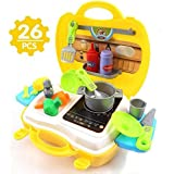 [Sponsored]Kitchen Bag Ultimate Kid Chef's Bring Along Kitchen Pretend Play Toys Suitcase Set (Yellow)
