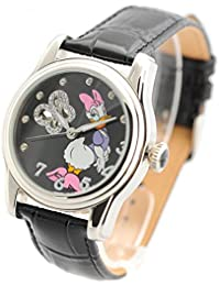 Disney Damas Reloj de pulsera automático reloj correa de piel brillantes Daisy Duck Diseño Dais de St de D de SS