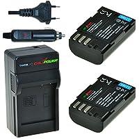 ChiliPower Pentax D-Li90, DLi90 Kit: 2x Batterie (1700mAh) + Chargeur pour Pentax 645D, 645Z, K-01, K-3, K-5, K-5 II, K-5 IIs, K-7