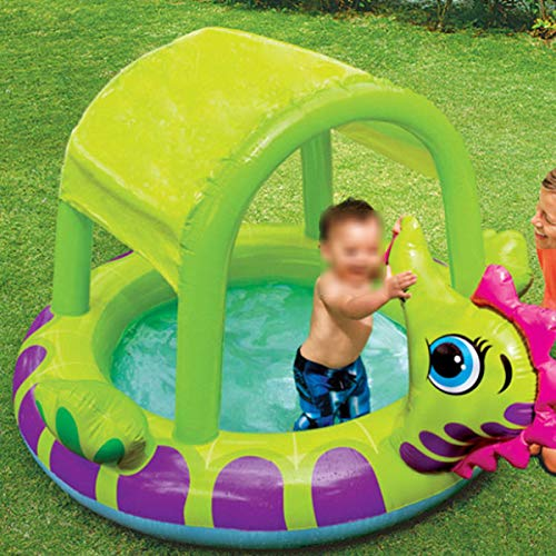 Baby Schwimmbad Aufblasbares Schwimmbad, Sonnenschirm-babybad Aufblasbarer Pool Für Kinder, Sandpool-wasserballpool, Kindergeschenke-188 × 147 × 104cm