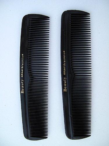 2 Taschen Kämme schwarz 13cm Beauty unzerbrechlich