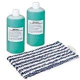 2 Wischmittel 1 Reinigungstuch passt für Vorwerk Saugwischer Kobold SP520/SP530