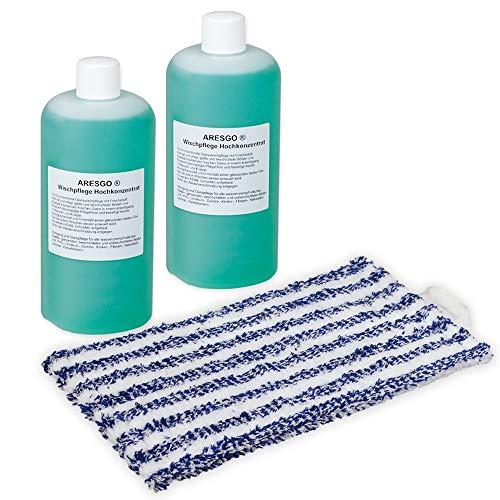 2x Reinigungsmittel-Konzentrat + Wischtuch - geeignet für Vorwerk Saugwischer Kobold SP520 530 - Bestleistung beim Wischen - Hochwertige Qualität